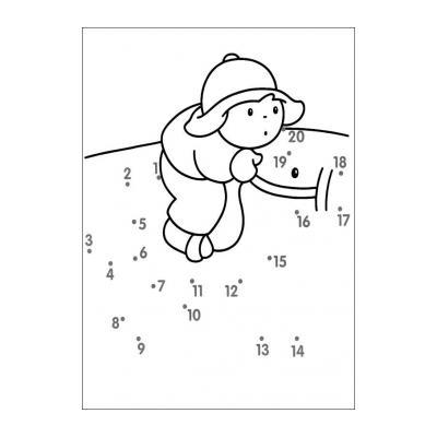 Раскраска по цифрам и точкам