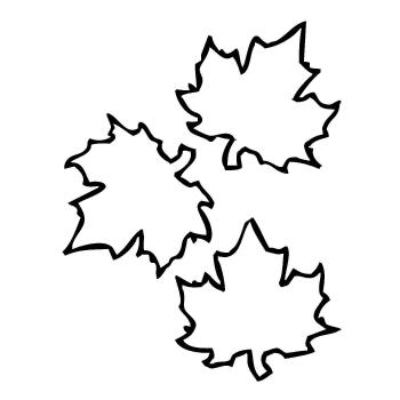 Трафарет листьев для поделки