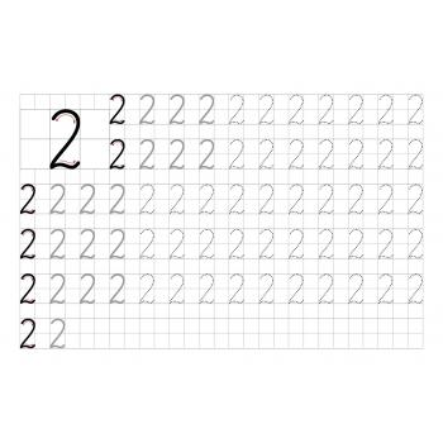 Пропись цифра 2 для дошкольников