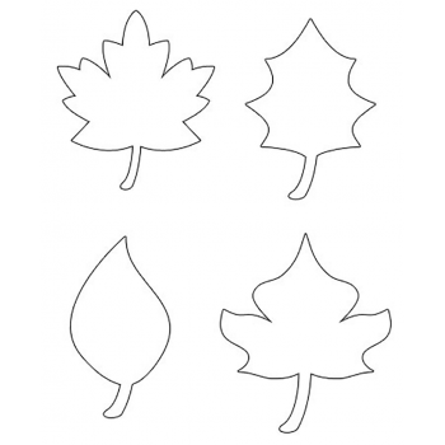 Трафарет листьев для вырезания
