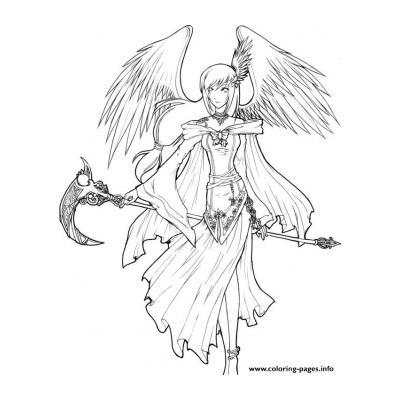 Раскраски Ангел Кровопролития - распечатать, скачать бесплатно