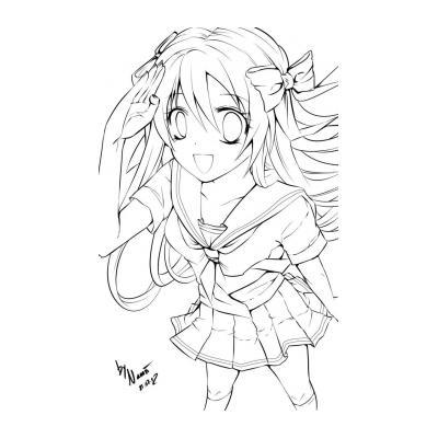 Девушка с хвостиком