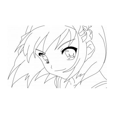 Раскраска Девушка в стиле аниме