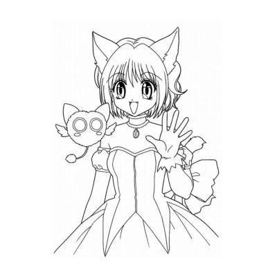 Девушка - кошка