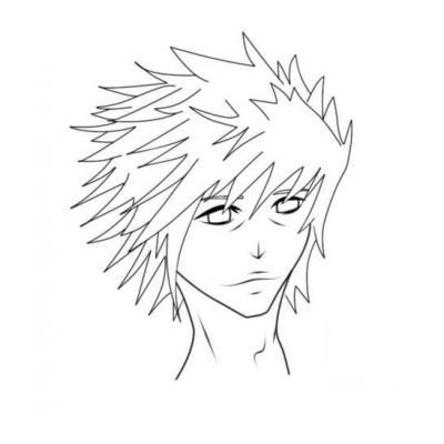 Раскраска аниме парень
