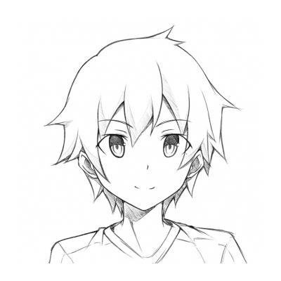 Раскраска аниме с мальчиками