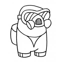 Раскраска персонажа амонг ас