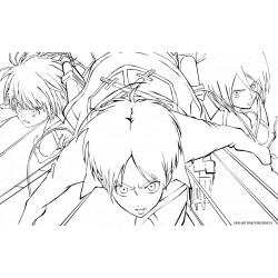 Распечатать раскраску Атака Титанов аниме
