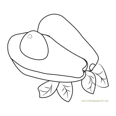 Раскраска авокадо