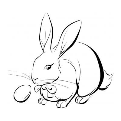 Раскраска с зайцем