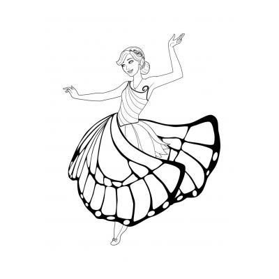Барби в модном платье
