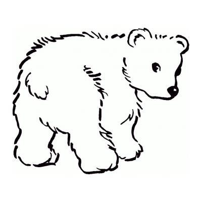 Распечатать раскраску с медведем