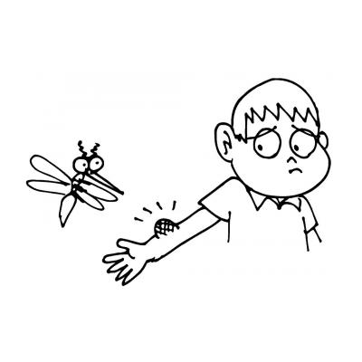 Раскраски Комар - распечатать, скачать бесплатно