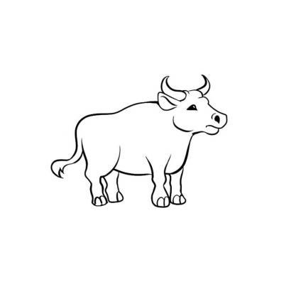 Раскраска с быком