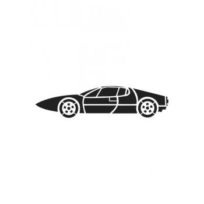 Трафарет машины для открытки