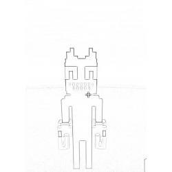 Раскраска Картун Кэт и Картун Дог раскраска