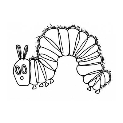 Раскраска гусеница - распечатать, скачать бесплатно