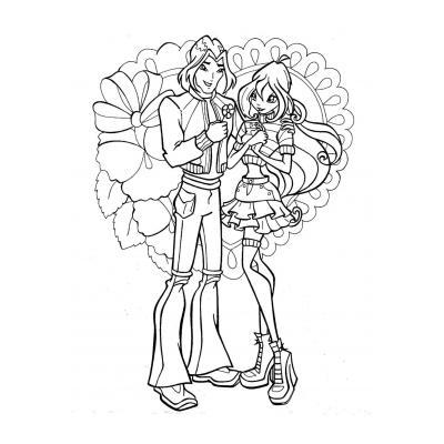 Раскраска Блум - фея Винкс