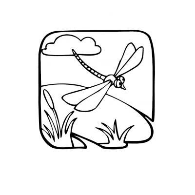 Раскраска Стрекоза - распечатать, скачать бесплатно