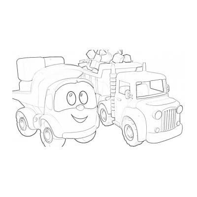 Раскраска с Левой - грузовичком