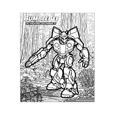 раскраска робот Бамблби