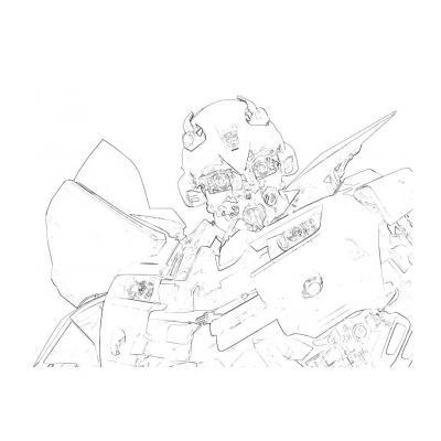 Раскраска Бамблби из трансформеров