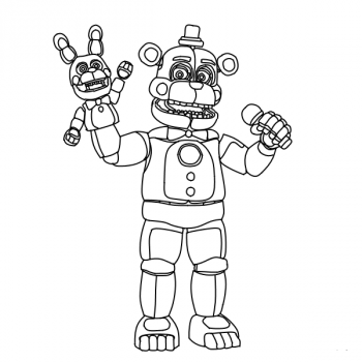 Раскраска команда аниматроников