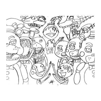 раскраска аниматроники