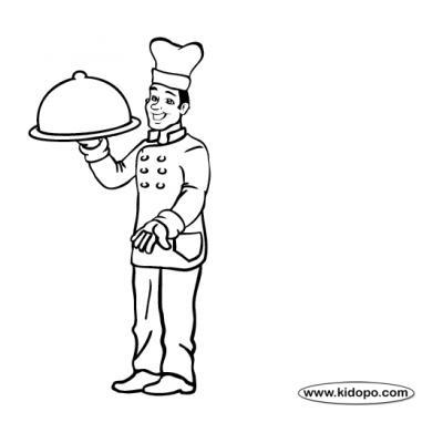 Раскраска повар вкусно готовит