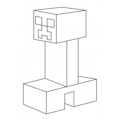 Раскраска Крипера из Майнкрафт