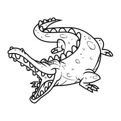 Раскраска с крокодилом