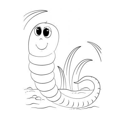 Раскраски червяк - распечатать, скачать бесплатно