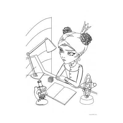 Раскраска персонажа мультсериала Царевны