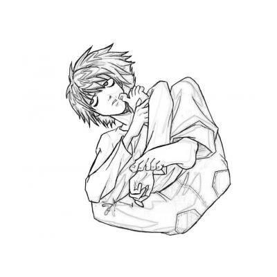 Раскраска аниме Тетрадь смерти