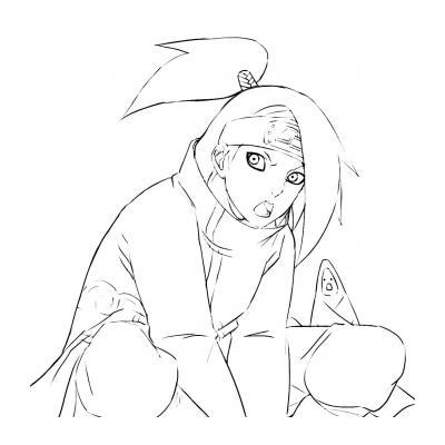 Дейдара из организации Акацуки