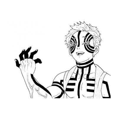 Раскраска аниме Клинок рассекающий демонов