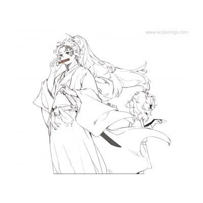 Раскраска Kimetsu no Yaiba