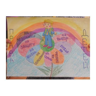 Права ребенка рисунок для 4 класса