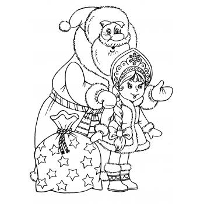 Раскраска Дед Мороз