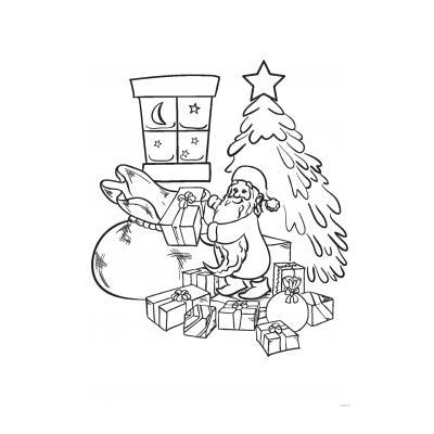 Раскраска Новогодние подарки