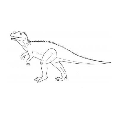 Раскрасить динозавра