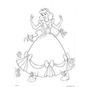 Раскраска Золушка (Дисней) (disney_on_ice_-_princess_classics_coloring_book_page44)
