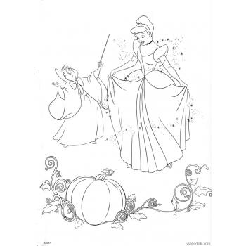 Раскраска Золушка (Дисней) (disney_on_ice_-_princess_classics_coloring_book_page46)