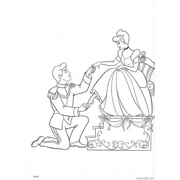 Раскраска Золушка (Дисней) (disney_on_ice_-_princess_classics_coloring_book_page48)