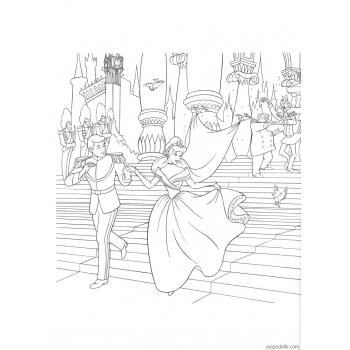 Раскраска Золушка (Дисней) (disney_on_ice_-_princess_classics_coloring_book_page49)