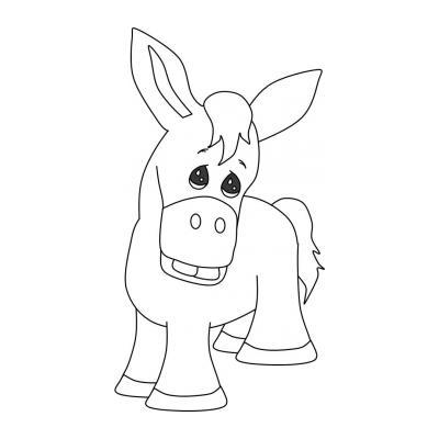 Веселый ослик