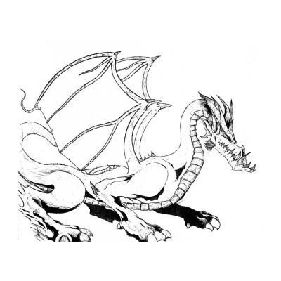 Распечатать раскраску с драконом