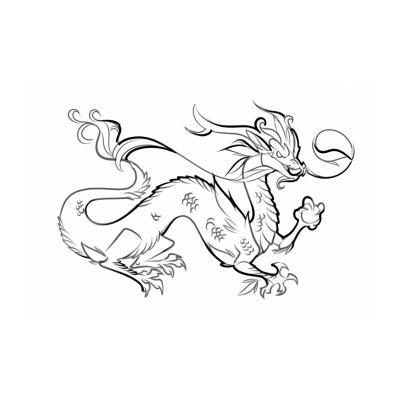 Дракон - раскраска для детей