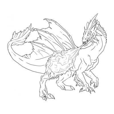 Огнедыщащий дракон