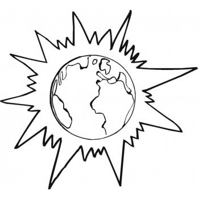 Раскраска Планета Земля